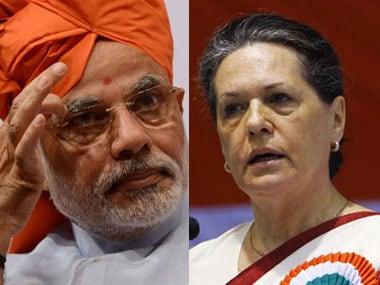 Prime Minister Narendra Modi and Congress president Sonia Gandhi. Fight against corruption. Image courtesy News18