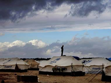 File image of a Syrian refugee camp. AP
