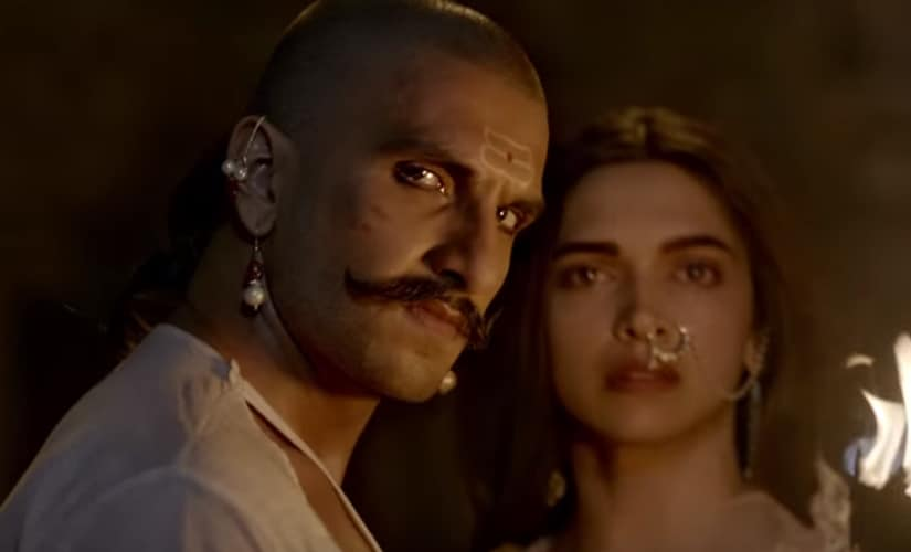 Ranveer Singh and Deepika Padukone in a still from Bajirao Mastani