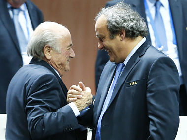File picture of Blatter and Platini