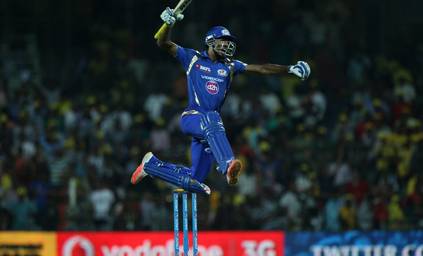 Hardik Pandya set off in wild celebrations after the win against CSK at the M. A. Chidambaram Stadium. Sportzpics