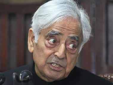 Jammu and Kashmir CM Mufti Mohammad Sayeed. AP