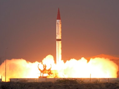 Shaheen III surface-to-surface ballistic missile launching from an undisclosed location in Pakistan. AFP