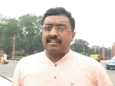 File image of Ram Madhav. News18