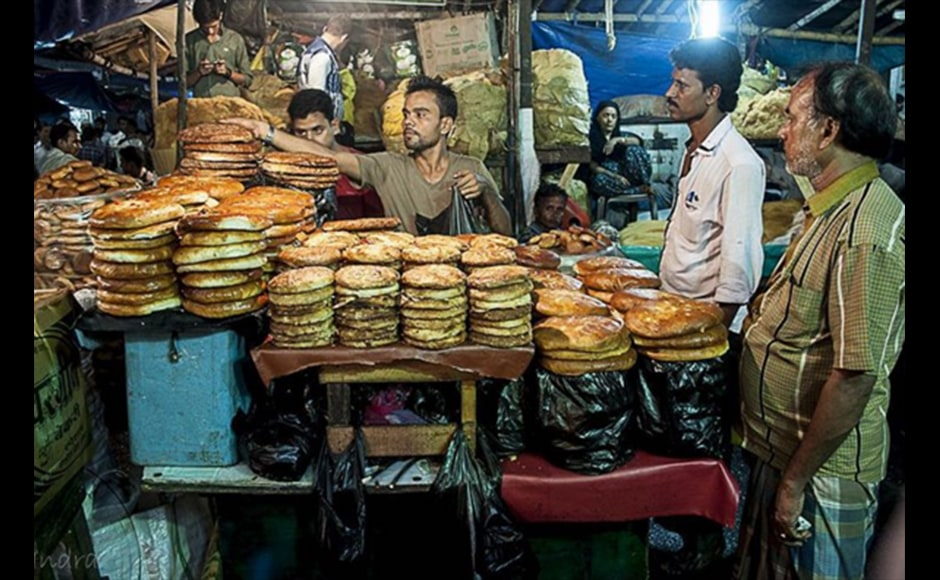 Indrajit Lahiri, 38, an IT business consultant, shot this photograph of a shopkeeper selling Sheermal and Bakarkhani bread while on a foodwalk during Ramzan in 2015 in the Chitpur area, near Nakhoda Masjid in Kolkata.
