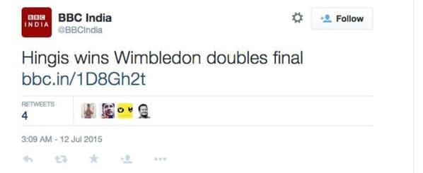 A screenshot of the deleted BBC India tweet. Image credit: Twitter @MattBonesteel