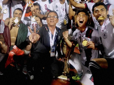 Mohun Bagan celebrate winning I-League 2015. PTI