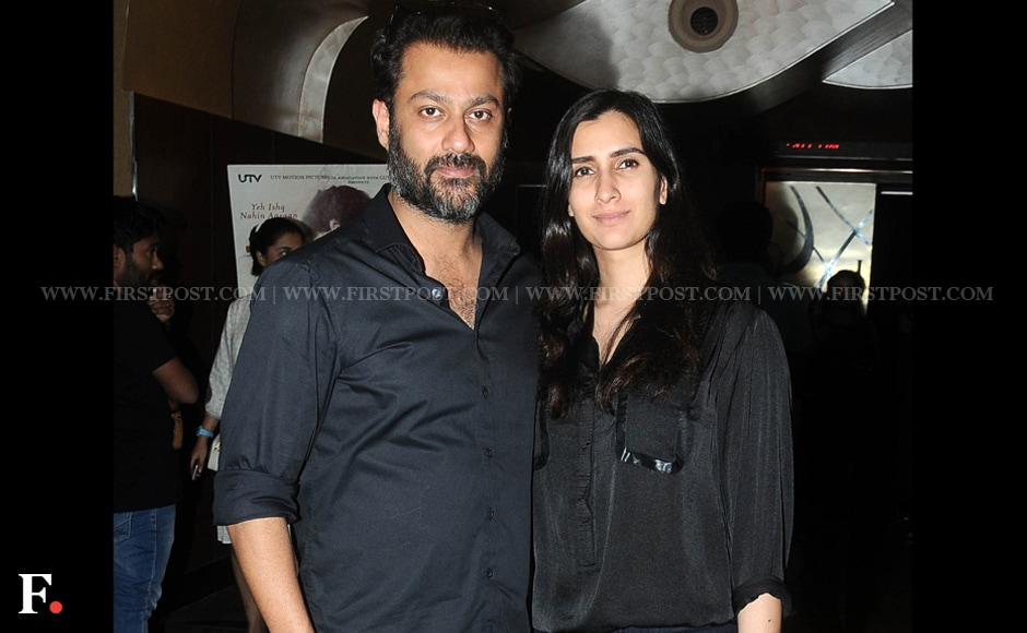 Abhishek Kapoor and his wife Pragya co-ordinated their outfits at the launch of the first look of Kapoor's film Fitoor. The director said it is unfair to blame Rekha for exiting the movie and was grateful to Tabu for agreeing to step in. Sachin Gokhale/Firstpost