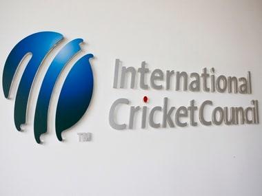 The International Cricket Council (ICC) logo. Reuters
