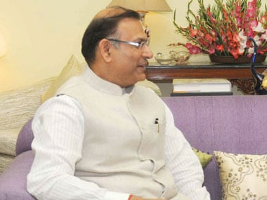 Minister of State for Finance Jayant Sinha. PIB