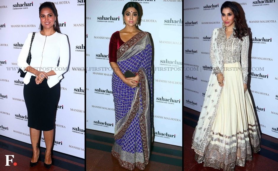 Lara Dutta opted for western wear while Shriya Saran and Sophie Choudry went desi at the Sachachari Foundation's fashion show for charity. The foundation works to empower the lesser privileged. Sachin Gokhale/Firstpost