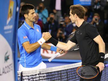 File image of Andy Murray and Novak Djokovic. AFP