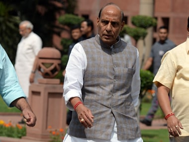 Home Minister Rajnath Singh said there is no reason to distrust Pakistan right now. AFP