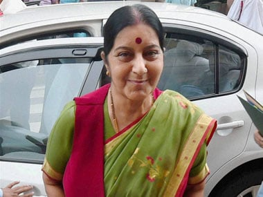 Sushma Swaraj leaves for Bahrain to attend first India-Arab Ministerial meet