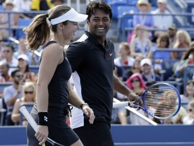 File photo of Leander Paes and Martina Hingis. AFP