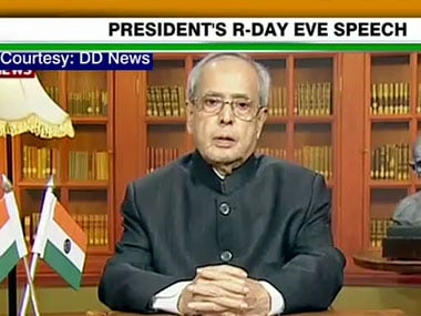 Pranab Mukherjee. Image courtesy: CNN-IBN screengrab