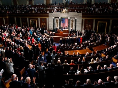 US President Obama receives a standing ovation as he addresses a Joint Session of Congress on Capitol Hill in Washington