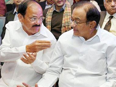 M Venkaiah Naidu (left) and P Chidambaram. PTI file photo