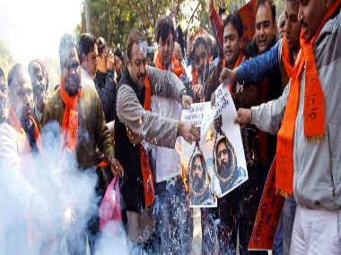 JNU students protest over Afzal Gurus death stalled by ABVP once again