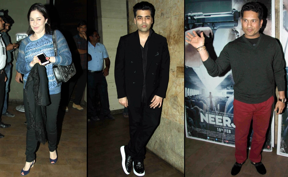 From Karan Johar to Sachin Tendulkar: Celebs in full attendance at Neerja screening