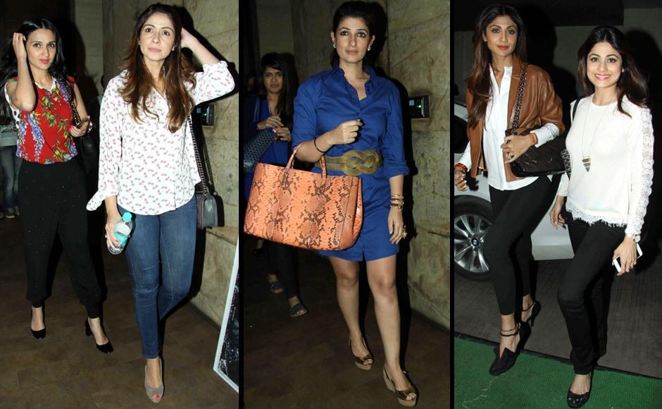 Anu-Dewan-with-Bhavna-pandey,-Twinkle-Khanna,-Shilpa-&-Shamita-Shetty