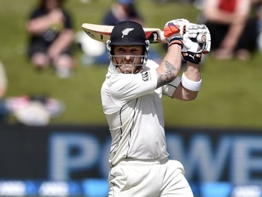 With 100  over-boundaries, NZ Test captain Brendon McCullum is just one 'six' short of a world record - AFP