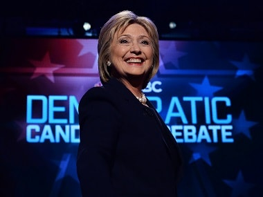 US Democratic presidential candidate Hillary Clinton. AFP