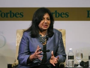 Govt focusing on service sector, only lip service to manufacturing: Kiran Mazumdar-Shaw