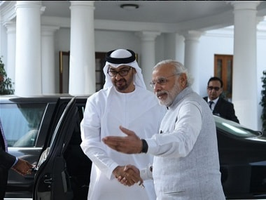 Abu Dhabis Crown Prince gets ceremonial welcome; meets PM Modi to discuss ways to curb radicalism