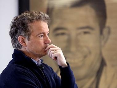 US Republican presidential candidate Senator Rand Paul. Reuters