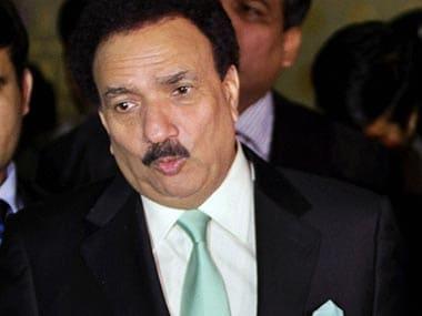 Former Pakistan minister Rehman Malik. AP