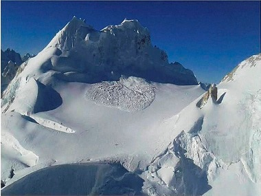 The avalanche in Siachen. PTI