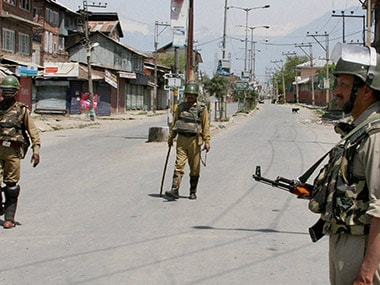A file image of curfew imposed in Srinagar. PTI