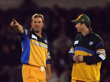 File picture of Shane Warne (L) and Steve Waugh. Getty