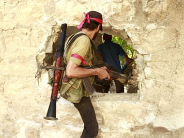 File image of Syrian rebels. Reuters
