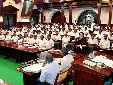 Tamil Nadu MLAs who misbehaved during trust vote let off after Speakers intervention