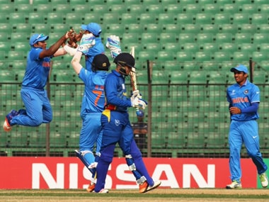 India beat Namibia to reach the semifinal of the Under-19 World Cup. Image Credit: Twitter @ICC