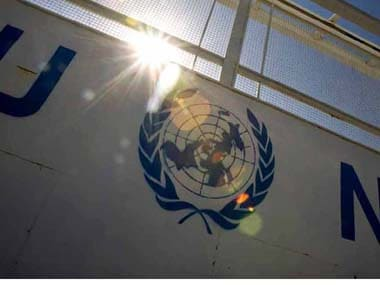 The United Nations logo. Reuters