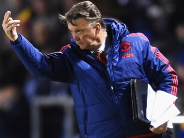 United manager Louis van Gaal during the FA Cup match against Shrewsbury Town at Greenhous Meadow on Monday. Getty Images