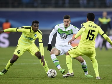 Champions League: Draxler double gives Wolfsburg 3-2 win, while Gents late strikes keep hopes alive