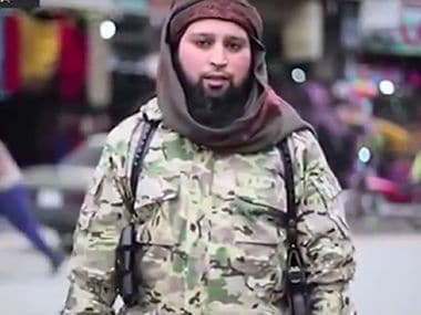Islamic State executioner Hicham Chaib in the video. Courtesy: YouTube