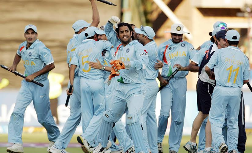 The beginning of the Dhoni era. Getty