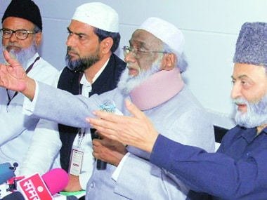 File image of members of the All India Muslim Personal Law Board. PTI
