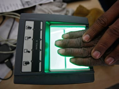 Biometrics being recorded for Aadhaar. Representational image. Reuters