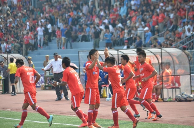 File photo of Aizawl FC players. Image courtesy: i-league.org