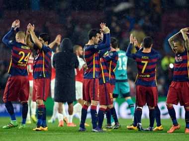 Champions League: Big 3 fire for Barcelona as they cruise to quarters with 3-1 win over Arsenal
