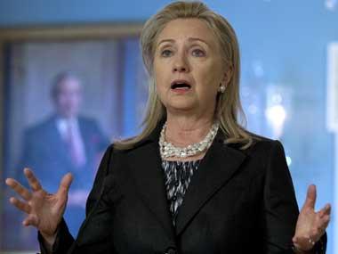 File photo of Hilary Clinton. AP