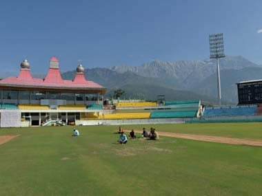 Dharamsala stadium, where India and Pakistan will play their World T20 match on. Getty
