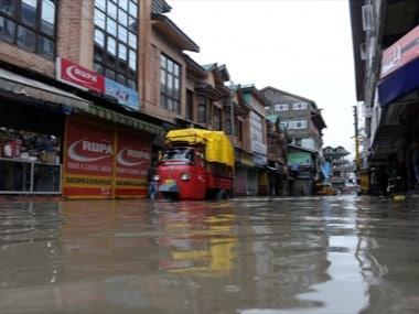 File photo of Kashmir floods. AFP