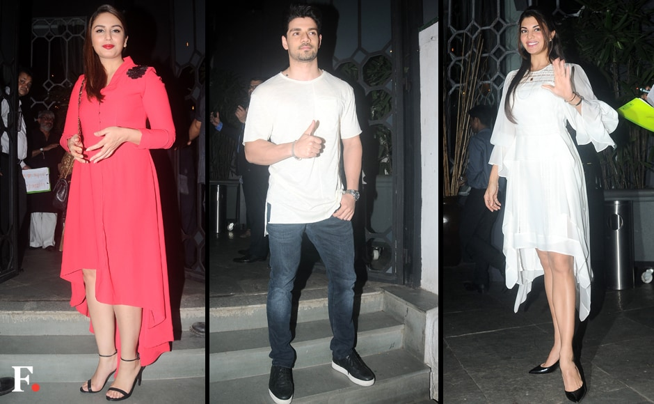 Among the guests who dropped by to present their best wishes to the filmmaker were Huma Qureshi, Sooraj Pancholi and Jacqueline Fernandez. Image by Sachin Gokhale/Firstpost
